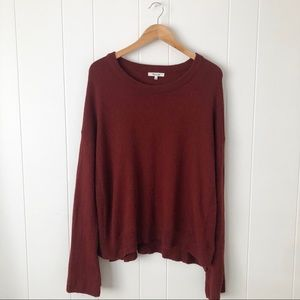 Madewell Burnt Orange/Red Sweater w/ Bell sleeves